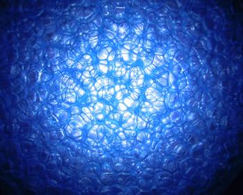 スルーラLT06の気泡の様子 LT06 すりガラス調EVA発泡体